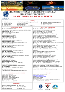 vııı. ınternatıonal workshop on nuclear structure propertıes 7