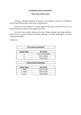 Müfettiş Yardımcılığı Sınavı Nihai Sonuç Listesi