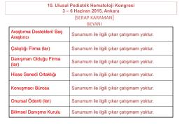 Endokrin - Türk Pediatrik Hematoloji Derneği