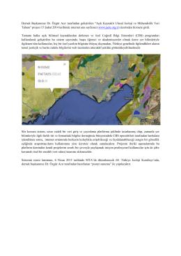 """Açık Kaynaklı Ulusal Jeoloji ve Mühendislik Veritabanı Projesi""""ni"""