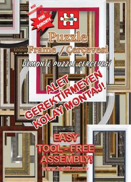 Demonte Puzzle çerçevesİ avantajları