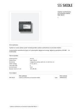Uzaktan anahtarlama ve kumanda modülü FSM 740-01 1