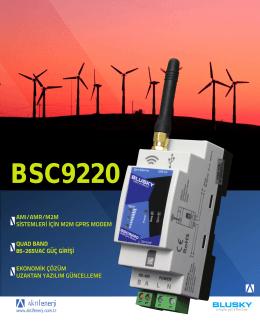 BSC9220 TÜRKÇE BROŞÜR için Tıkla