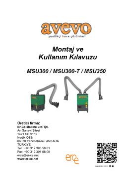 AVEVO MSU serisi kullanım kılavuzu - Er-CE