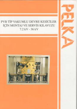 pvb tipi vakumlu devre kesiciler montaj ve servis klavuzu