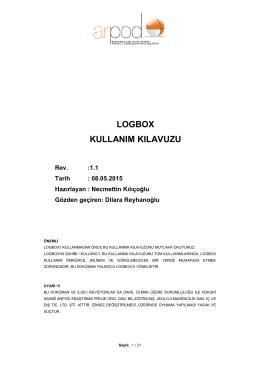 LOGBOX Kullanım Kılavuzu