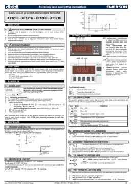 XT120C - XT121C - XT120D - XT121D