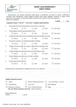 Anket Formu için tıklayınız