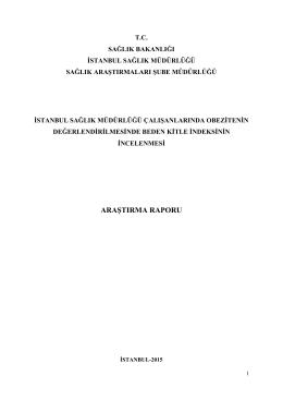 15 Yılı OBEZİTENİN - İstanbul İl Sağlık Müdürlüğü