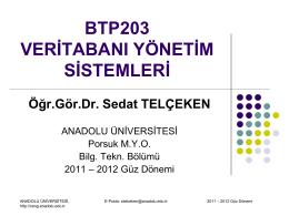Görev - Anadolu Üniversitesi