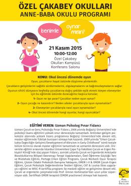 21 Kasım 2015 - Özel Çakabey Okulları
