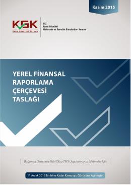 yerel finansal raporlama çerçevesi