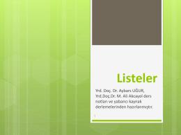 2.Hafta _Listeler_Yigit