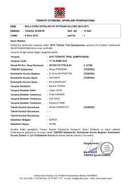 Onay YAzı - 2015 ulusal trial şampiyonası