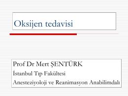 Oksijen tedavisi - İstanbul Üniversitesi İstanbul Tıp Fakültesi