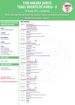 Temel İnfertilite Kursu - II - Ana Sayfa