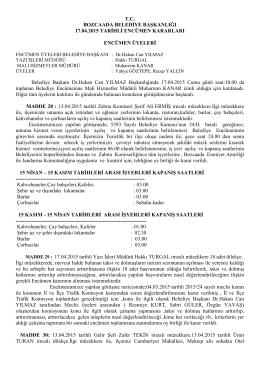 17.04.2015 Enc.Kararları - Bozcaada Belediye Başkanlığı