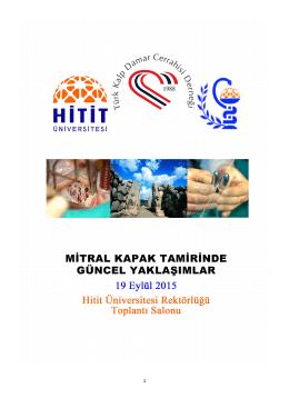 Program - Türk Kalp ve Damar Cerrahisi Derneği