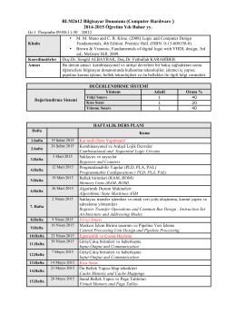 2014-2015 Öğretim Yılı Bahar yy.