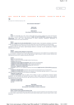 Sayfa 1 / 22 18.11.2015 http://www.mevzuat.gov.tr/Metin.Aspx