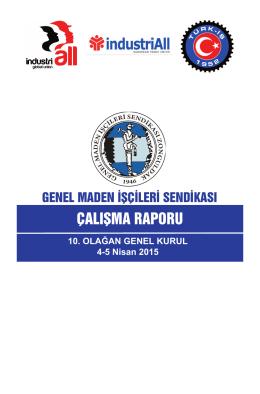 Çalışma Raporu - Genel Maden İşcileri Sendikası