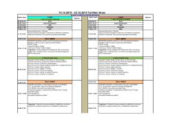 14.12.2015 - 23.12.2015 Tarihleri Arası