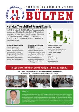 E-Bülten - hidrojen teknolojileri derneği / hydrogen technologıes