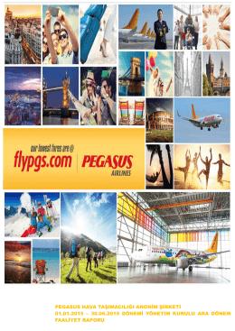 2015 2.Çeyrek Faaliyet Raporu - Pegasus Yatırımcı İlişkileri