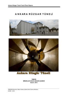 Tescil Başvuru Dosyası - Mimarlar Odası Ankara Şubesi