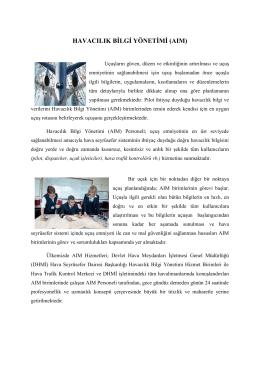 aım hizmetleri - TAIMA Türkiye Havacılık Bilgi Yönetimi Derneği