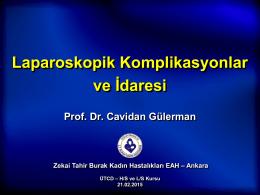 Laparoskopik Komplikasyonlar ve İdaresi
