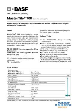 MasterTile® 700 (Eski Adı Epofuga®) Epoksi Esaslı, İki Bileşenli