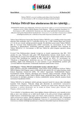 Türkiye İMSAD`dan uluslararası iki dev işbirliği…