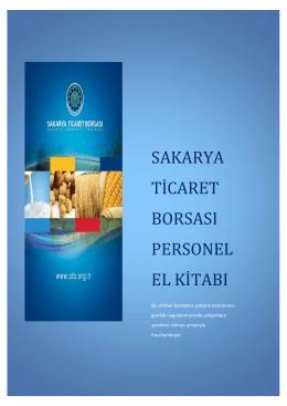 sakarya ticaret borsası personel el kitabı