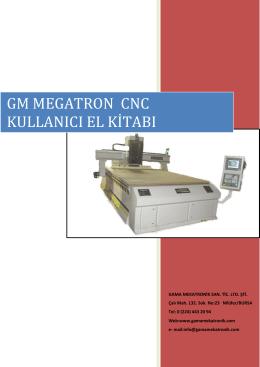 GM MEGATRON CNC KULLANICI EL KİTABI