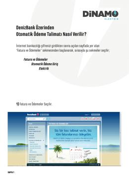 DenizBank Üzerinden Otomatik Ödeme Talimatı Nasıl Verilir?