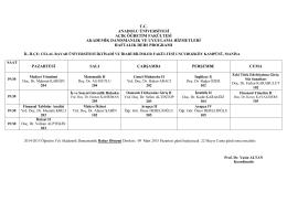 Açık Öğretim Ders Programları - İktisadi ve İdari Bilimler Fakültesi