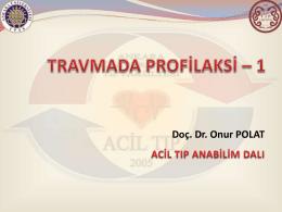 travma hastalarında profilaksi 1