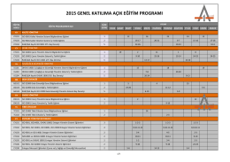 2015 genel katılıma açık eğitim programı