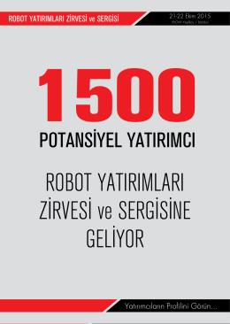 ROBOT YATIRIMLARI ZİRVESİ ve SERGİSİNE