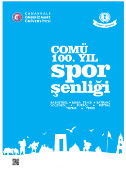 100. Yıl Spor Şenlikleri Kitapçığı Yayınlandı. Kitapçığı indirmek
