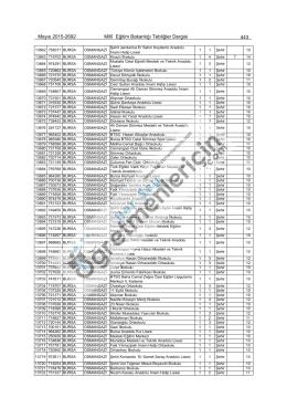 Mayıs 2015-2692 Millî Eğitim Bakanlığı Tebliğler Dergisi 443