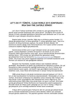 türkiye, clean world 2015 konferansı – riga`dan yine zaferle döndü!