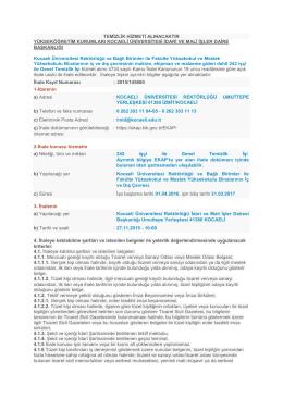 Dosya Görüntüle - Kocaeli Üniversitesi İhale Bilgi Sistemi