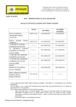 10.10.2015 ile 10.10.2016 tarihleri arasını kapsayan güncel maaş