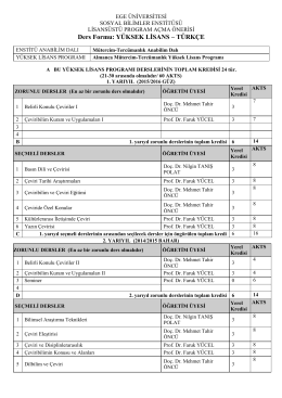 ege üniversitesi - sosyal bilimler enstitüsü - Mütercim