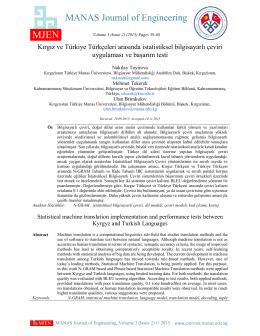 Show Full Text () - Kırgızistan Türkiye Manas Üniversitesi