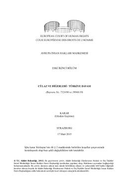 17 Mart 2015 tarihli Cülaz vd. v. Türkiye Kararı