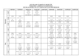 İngiliz Dili ve Edebiyatı Programı 2015