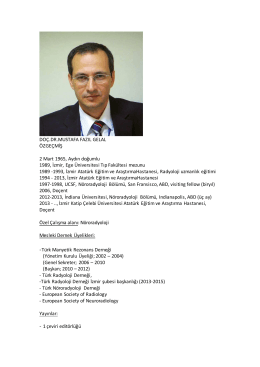Dr. Mustafa Fazıl GELAL - Türk Radyoloji Derneği